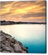 Sunset At Plymouth Harbor Canvas Print