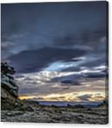 Sunset At Poolburn Reservoir 1 Canvas Print