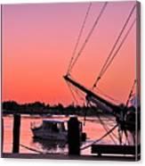 Sunset At Port Canvas Print