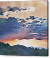 Sunset At Quialigo Canvas Print
