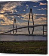 Sunset At Ravenel Bridge Canvas Print