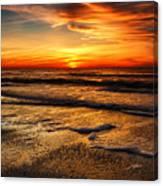 Sunset At Saint Petersburg Beach Canvas Print