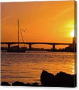 Sunset At Sarasota Bayfront Park Canvas Print