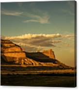 Sunset At Scotts Bluff National Monument Canvas Print
