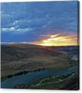 Sunset At Snake River Canyon 1 Canvas Print