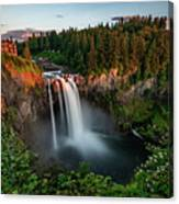 Sunset At Snoqualmie Falls Canvas Print