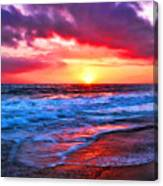 Sunset At Strands Beach Canvas Print