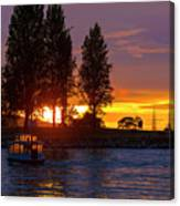 Sunset At Sunset Beach In Vancouver Bc Canvas Print