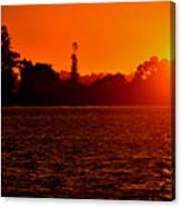 Sunset At Swan River II Canvas Print