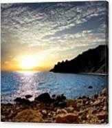 Sunset At The Black Sea Coast. Crimea Canvas Print