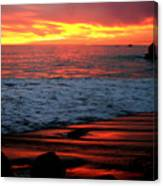 Sunset At The Bu Canvas Print