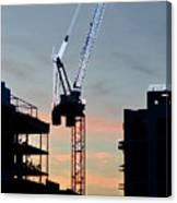 Sunset At The Construction Site 3  Canvas Print