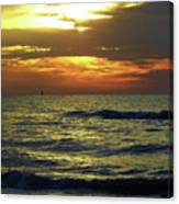 Sunset At The Gulf Canvas Print