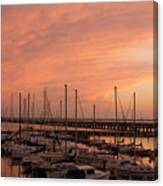 Sunset At The Marina Canvas Print