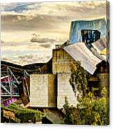sunset at the marques de riscal Hotel - frank gehry Canvas Print