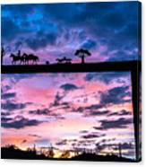 Sunset At The Ranch Canvas Print