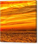 Sunset At The Ss Atlantus - Pano Canvas Print