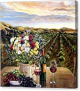 Sunset At The Vineyards Canvas Print