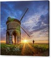 Sunset At The Windmill Canvas Print