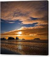 Sunset At Tofino Canvas Print