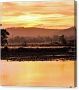 Sunset At Triabunna Tasmania Canvas Print