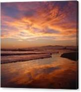 Sunset At Venice Beach Canvas Print