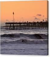 Sunset At Ventura Pier Canvas Print