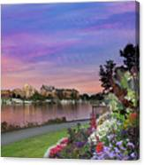 Sunset At Victoria Bc  Inner Harbour Canvas Print