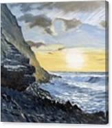 Sunset At Warren Point Duckpool Canvas Print