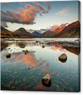 Sunset at Wast Water #1, Wasdale, Lake District, England Canvas Print