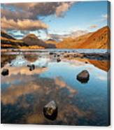Sunset At Wast Water #3, Wasdale, Lake District, England Canvas Print