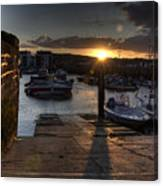 Sunset At West Bay Harbour Canvas Print