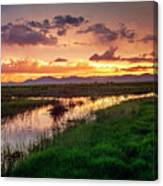 Sunset At Whitewater Draw Canvas Print