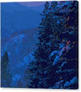 Sunset At Zero Canvas Print