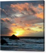 Sunset Bandon By The Sea Canvas Print