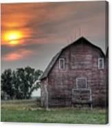 Sunset Barn Canvas Print