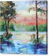 Sunset Bayou Canvas Print