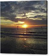Sunset Beauty At Clearwater Canvas Print