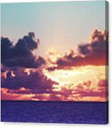 Sunset Behind Clouds Canvas Print
