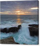 Sunset Breach Canvas Print