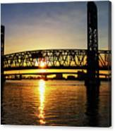 Sunset Bridge 1 Canvas Print