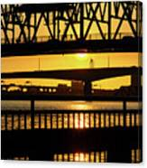 Sunset Bridge 2 Canvas Print