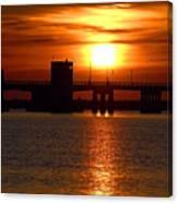 Sunset Bridge Canvas Print