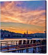 Sunset Budapest Canvas Print
