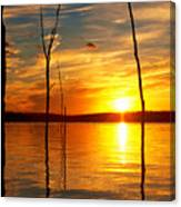 Sunset By The Water Canvas Print