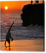 Sunset Cartwheel Canvas Print