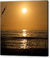 Sunset On Barefoot Beach Canvas Print