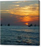 Sunset Celebration Key West Fl Canvas Print