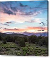 Sunset Cerillos Canvas Print