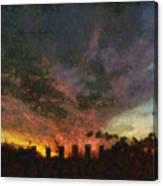 Sunset Cloud Impression Canvas Print